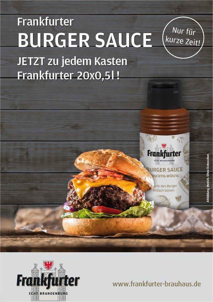 Nur für kurze Zeit! Frankfurter Burger-Sauce