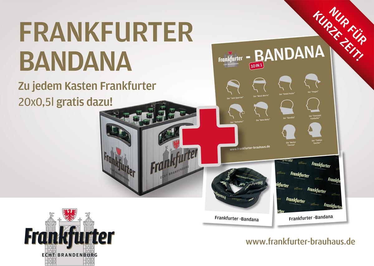 Coole Bandana zu jedem Kasten Frankfurter 20x0,5l gratis dazu