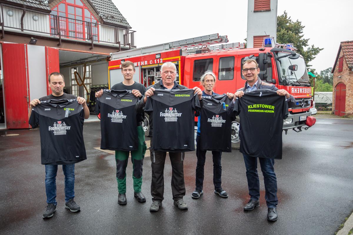 Feuerwehreinsatz mit Frankfurter